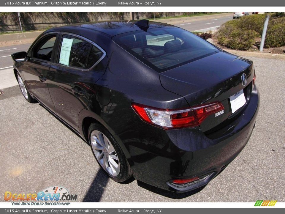 2016 Acura ILX Premium Graphite Luster Metallic / Ebony Photo #6