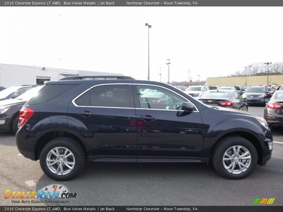 2016 Chevrolet Equinox LT AWD Blue Velvet Metallic / Jet Black Photo #4