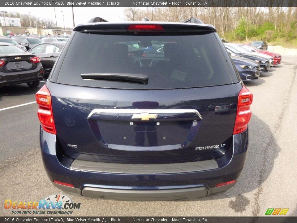 2016 Chevrolet Equinox LT AWD Blue Velvet Metallic / Jet Black Photo #6
