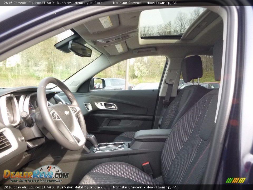 2016 Chevrolet Equinox LT AWD Blue Velvet Metallic / Jet Black Photo #10