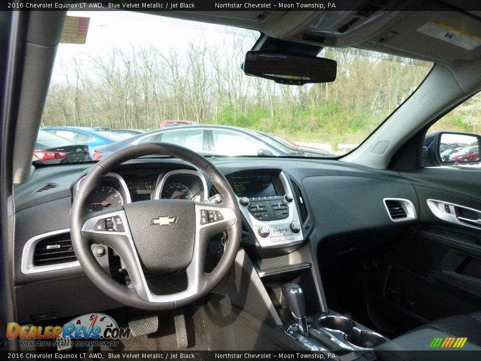 2016 Chevrolet Equinox LT AWD Blue Velvet Metallic / Jet Black Photo #12