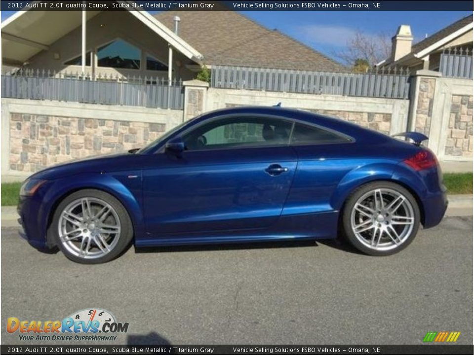 2012 Audi TT 2.0T quattro Coupe Scuba Blue Metallic / Titanium Gray Photo #1