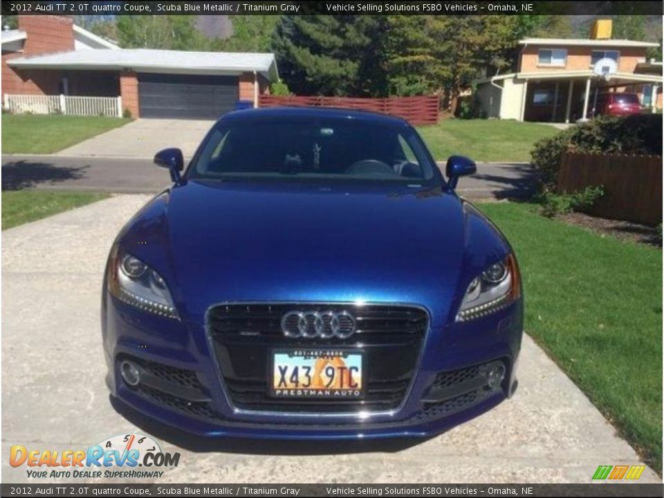2012 Audi TT 2.0T quattro Coupe Scuba Blue Metallic / Titanium Gray Photo #3