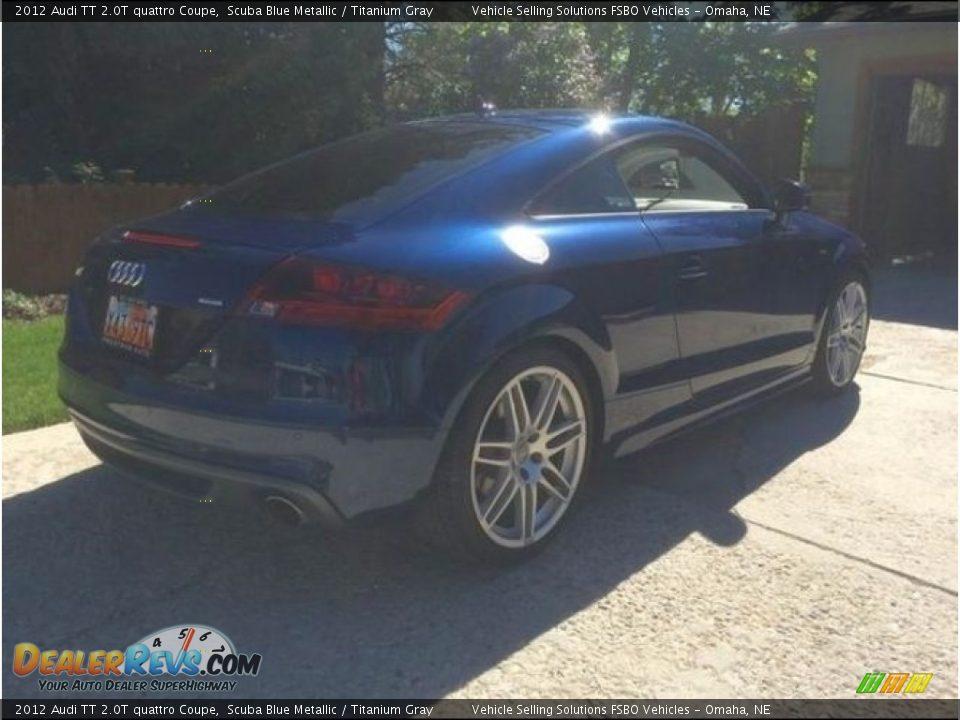 2012 Audi TT 2.0T quattro Coupe Scuba Blue Metallic / Titanium Gray Photo #8