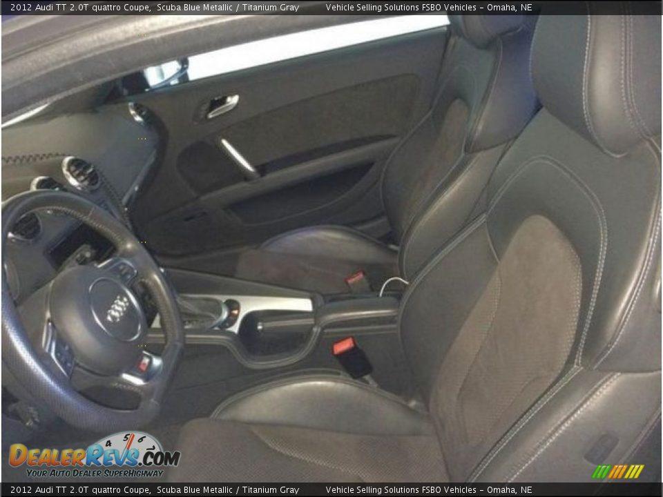 2012 Audi TT 2.0T quattro Coupe Scuba Blue Metallic / Titanium Gray Photo #11