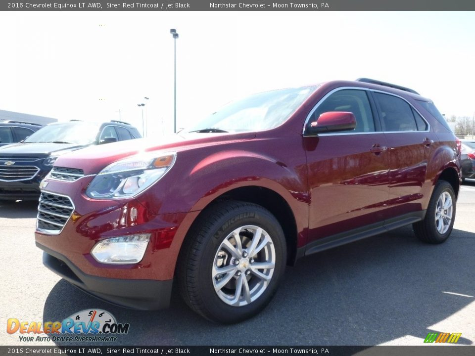 2016 Chevrolet Equinox LT AWD Siren Red Tintcoat / Jet Black Photo #1