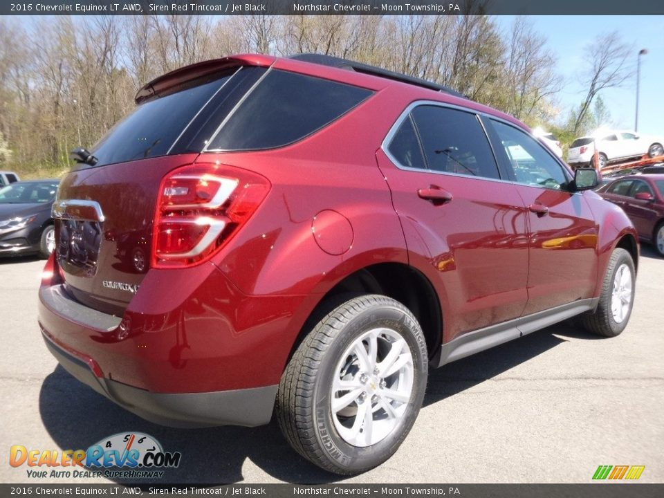 2016 Chevrolet Equinox LT AWD Siren Red Tintcoat / Jet Black Photo #5