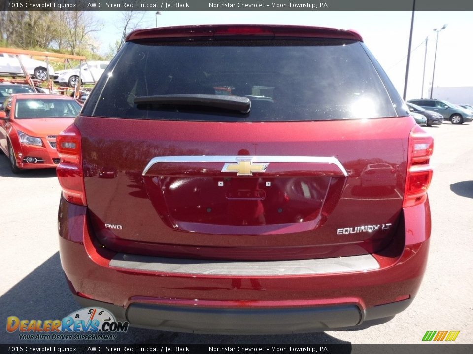 2016 Chevrolet Equinox LT AWD Siren Red Tintcoat / Jet Black Photo #6