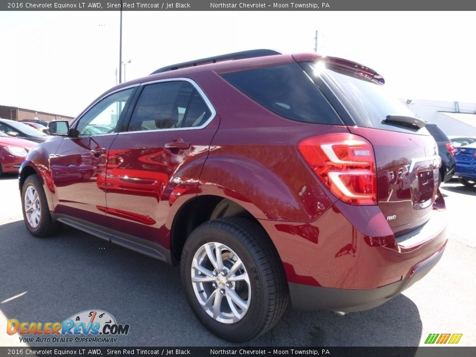 2016 Chevrolet Equinox LT AWD Siren Red Tintcoat / Jet Black Photo #7