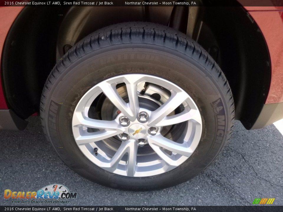 2016 Chevrolet Equinox LT AWD Siren Red Tintcoat / Jet Black Photo #9