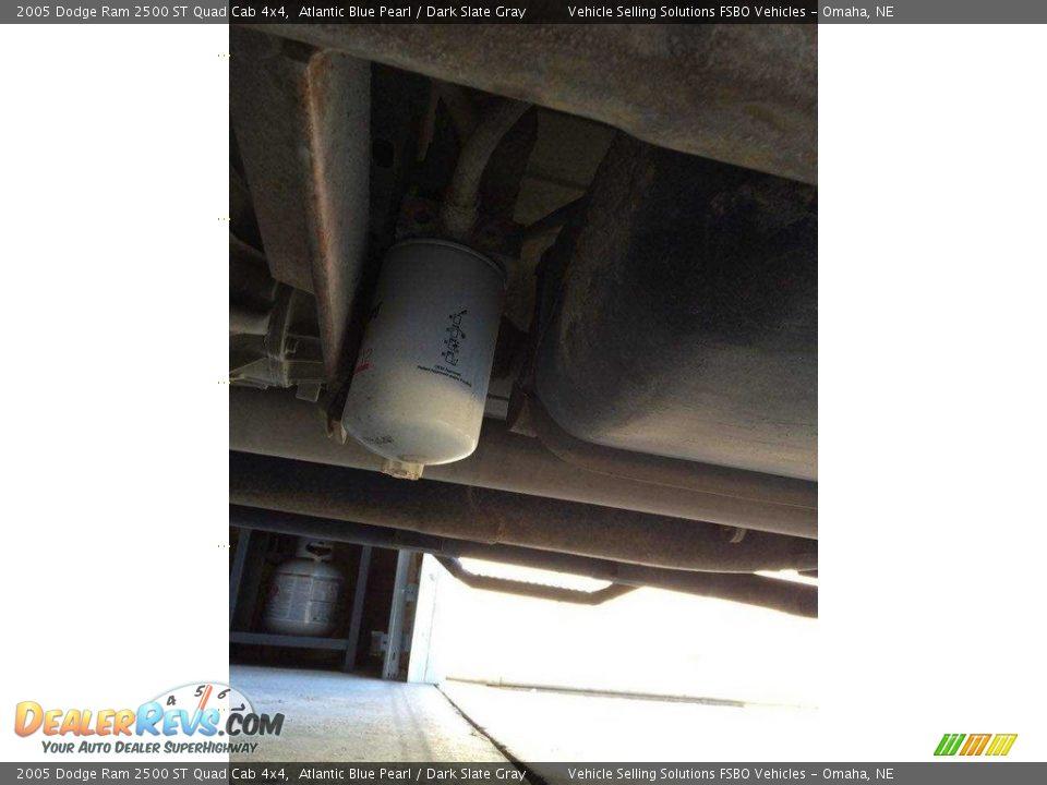 2005 Dodge Ram 2500 ST Quad Cab 4x4 Atlantic Blue Pearl / Dark Slate Gray Photo #16