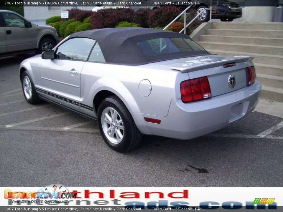 2007 Ford Mustang V6 Deluxe Convertible Satin Silver