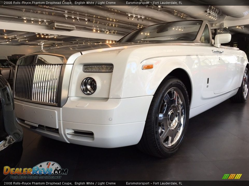 2008 Rolls-Royce Phantom Drophead Coupe English White / Light Creme Photo #2
