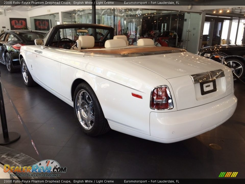 2008 Rolls-Royce Phantom Drophead Coupe English White / Light Creme Photo #14