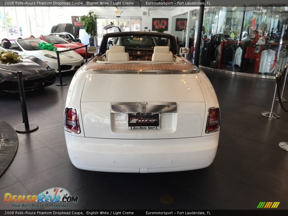 2008 Rolls-Royce Phantom Drophead Coupe English White / Light Creme Photo #20