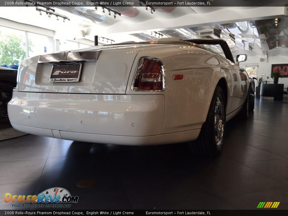 2008 Rolls-Royce Phantom Drophead Coupe English White / Light Creme Photo #26