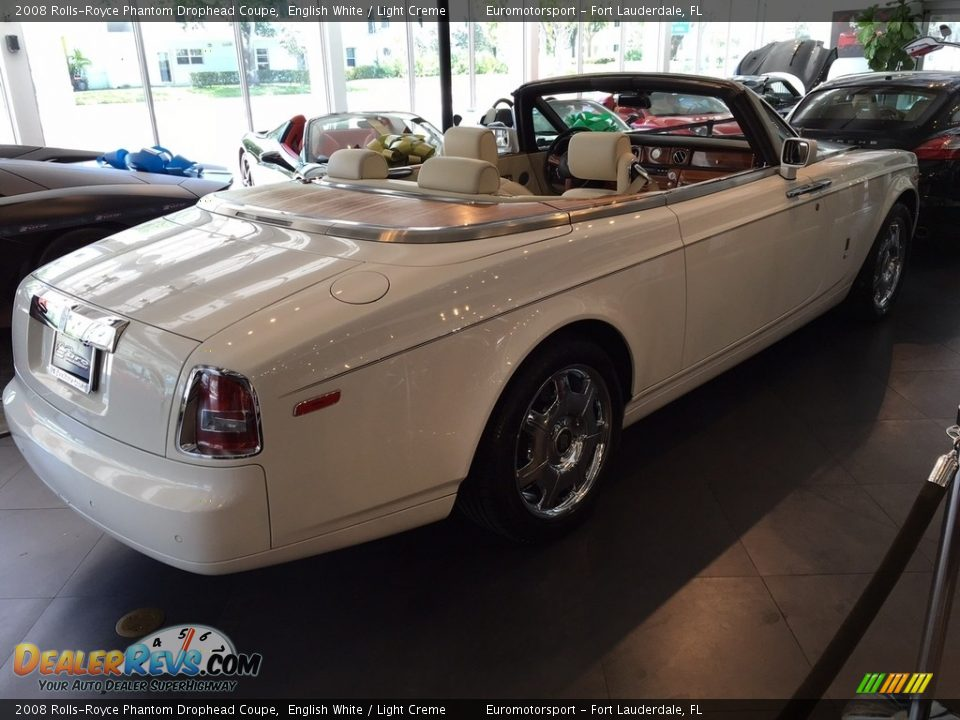 2008 Rolls-Royce Phantom Drophead Coupe English White / Light Creme Photo #27
