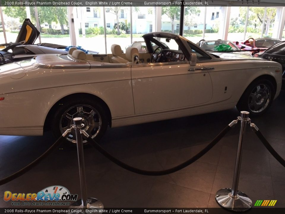 2008 Rolls-Royce Phantom Drophead Coupe English White / Light Creme Photo #28