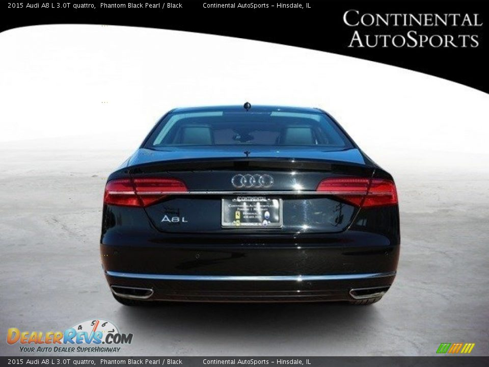 2015 Audi A8 L 3.0T quattro Phantom Black Pearl / Black Photo #5