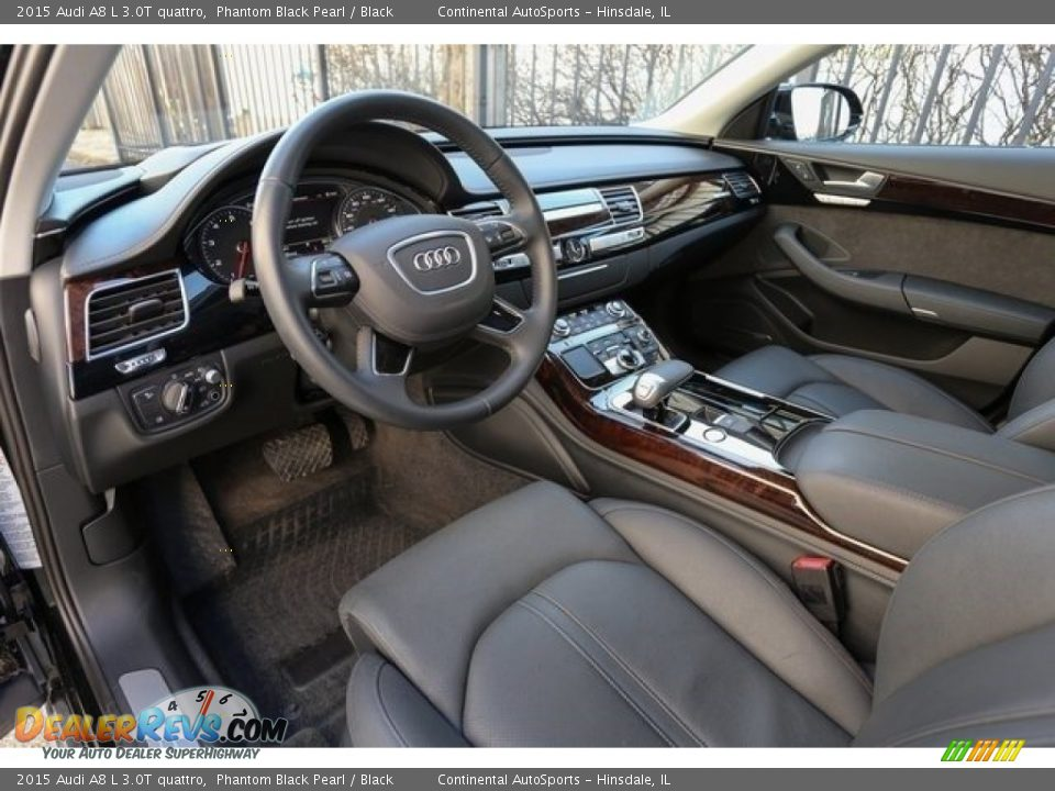 2015 Audi A8 L 3.0T quattro Phantom Black Pearl / Black Photo #12