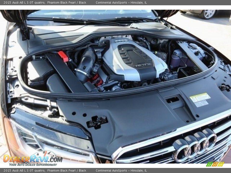 2015 Audi A8 L 3.0T quattro Phantom Black Pearl / Black Photo #29