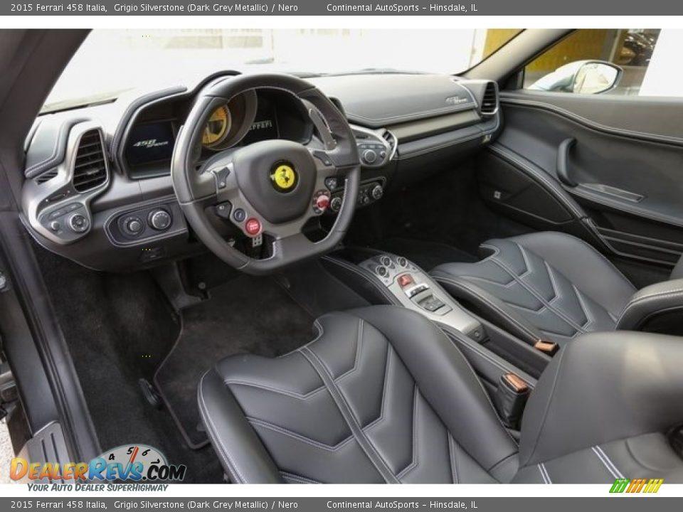 Nero Interior - 2015 Ferrari 458 Italia Photo #15