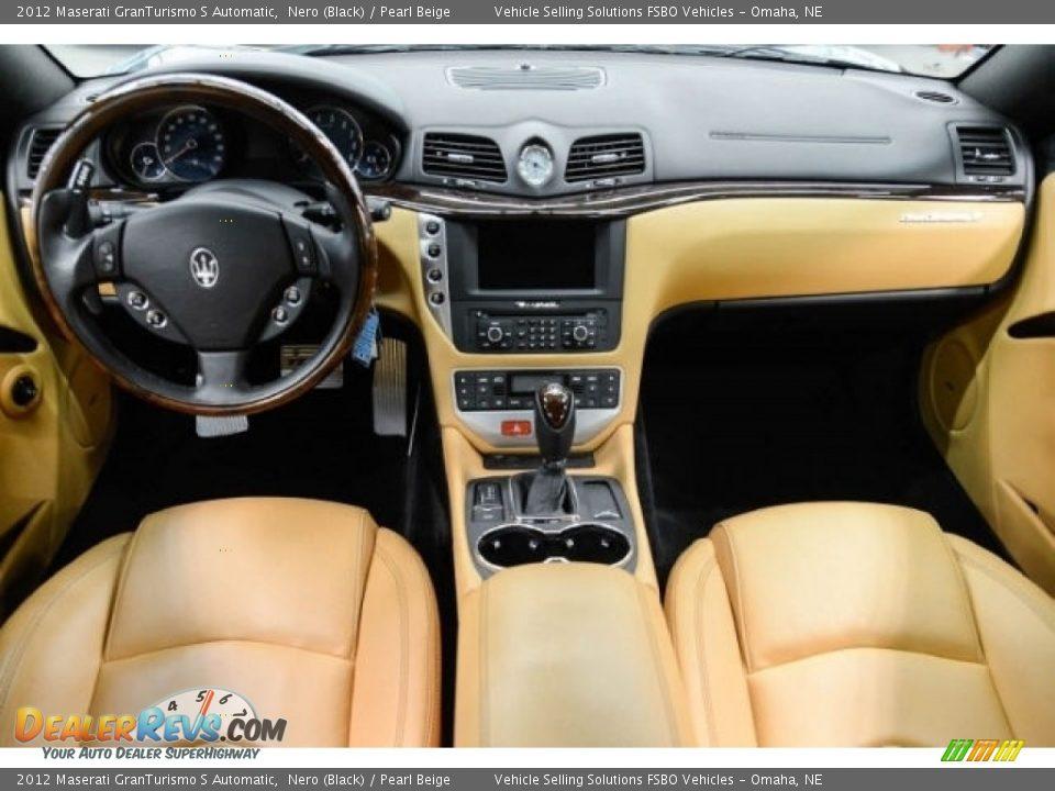 Pearl Beige Interior - 2012 Maserati GranTurismo S Automatic Photo #5