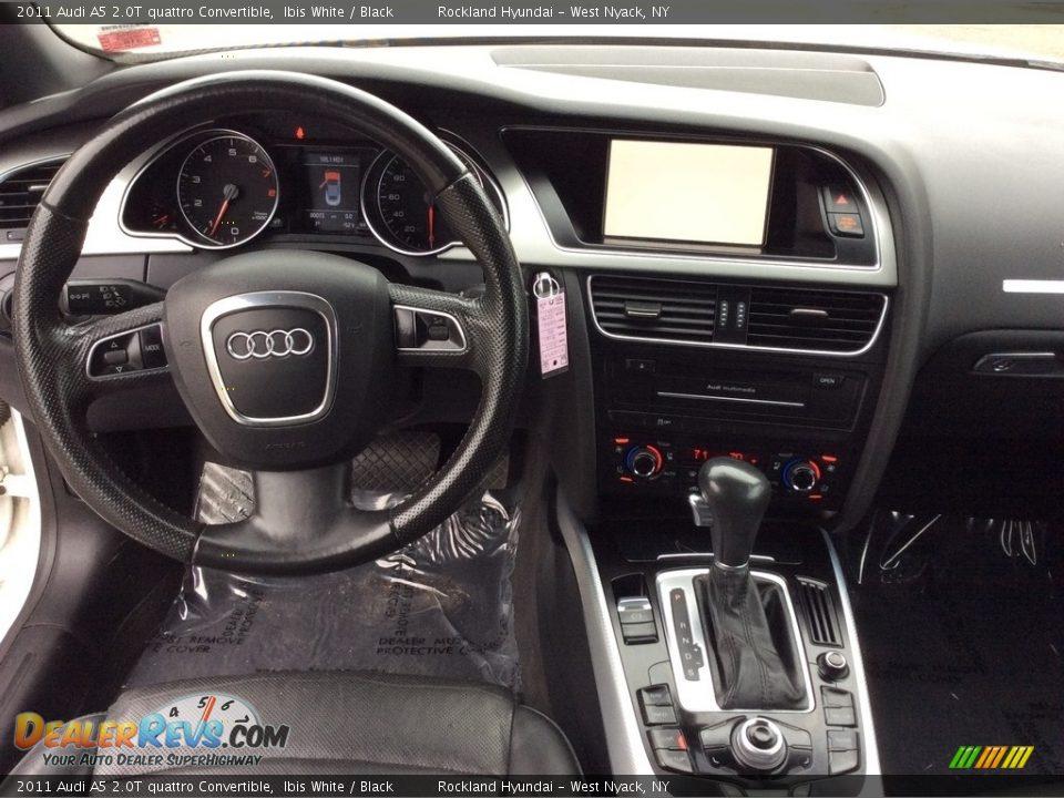 2011 Audi A5 2.0T quattro Convertible Ibis White / Black Photo #12