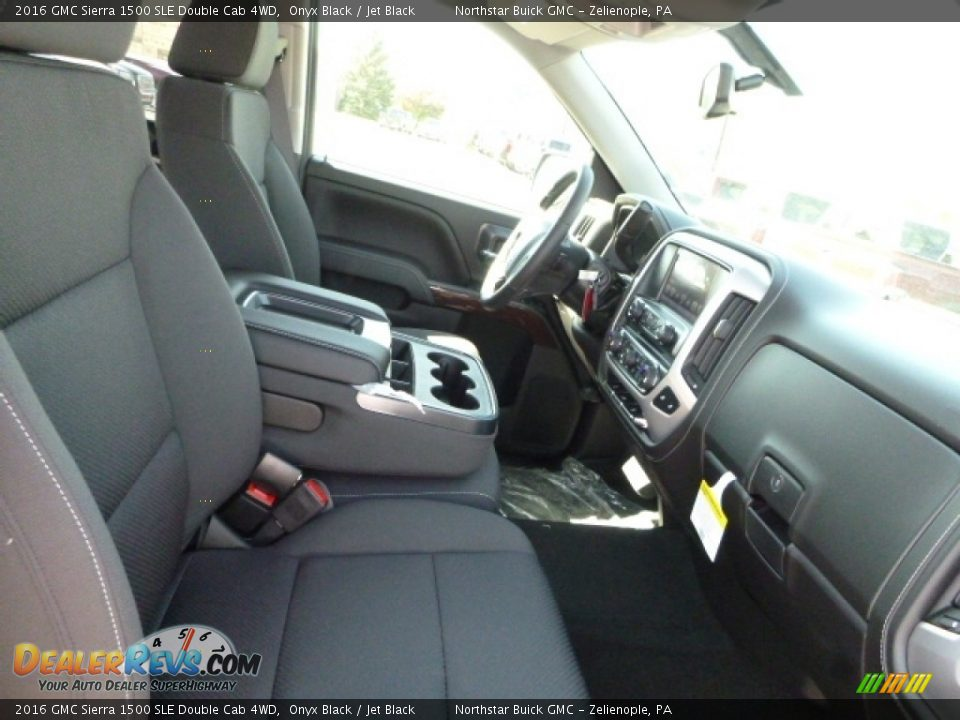 2016 GMC Sierra 1500 SLE Double Cab 4WD Onyx Black / Jet Black Photo #10
