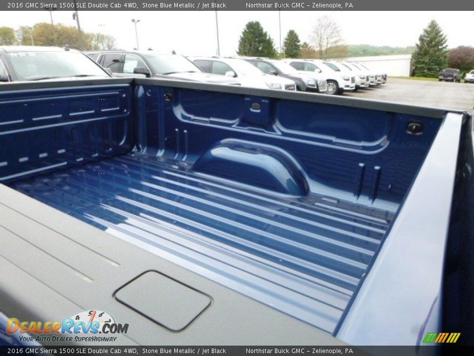 2016 GMC Sierra 1500 SLE Double Cab 4WD Stone Blue Metallic / Jet Black Photo #12
