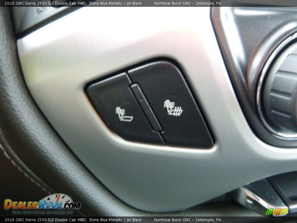 2016 GMC Sierra 1500 SLE Double Cab 4WD Stone Blue Metallic / Jet Black Photo #19