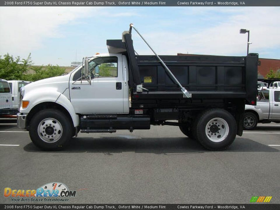 2008 ford f750 super duty xl chassis regular cab dump