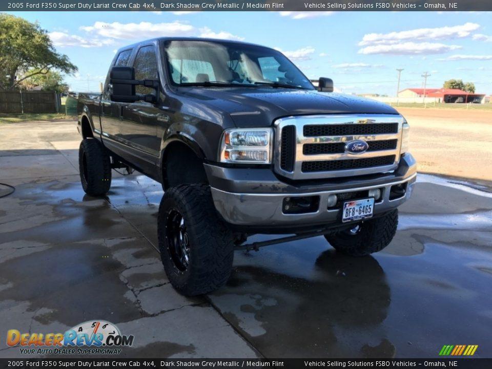 2005 Ford F350 Super Duty Lariat Crew Cab 4x4 Dark Shadow Grey Metallic / Medium Flint Photo #1