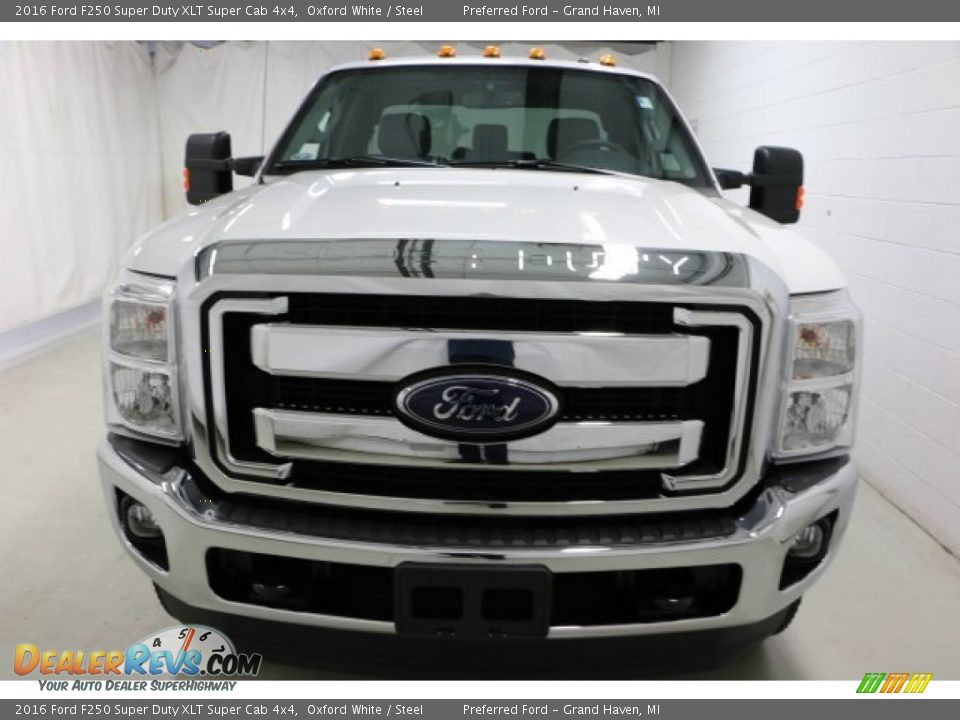 2016 Ford F250 Super Duty XLT Super Cab 4x4 Oxford White / Steel Photo #2