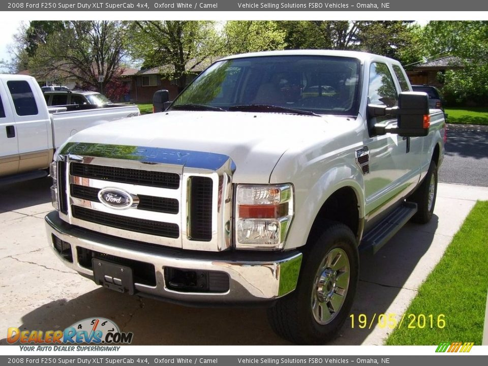 2008 Ford F250 Super Duty XLT SuperCab 4x4 Oxford White / Camel Photo #1