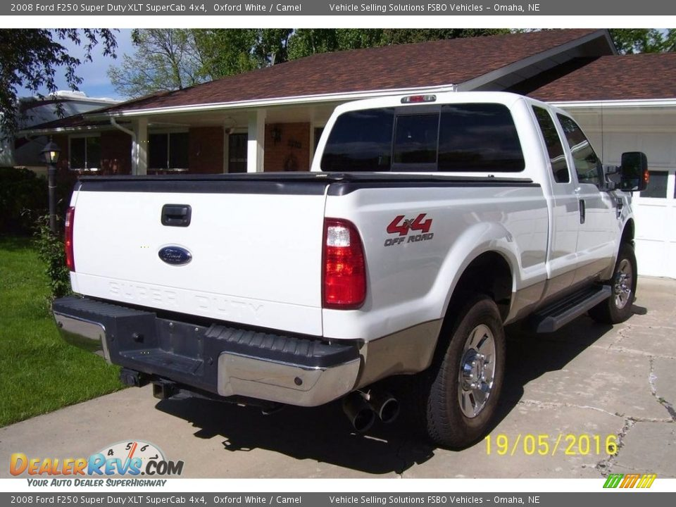 2008 Ford F250 Super Duty XLT SuperCab 4x4 Oxford White / Camel Photo #2