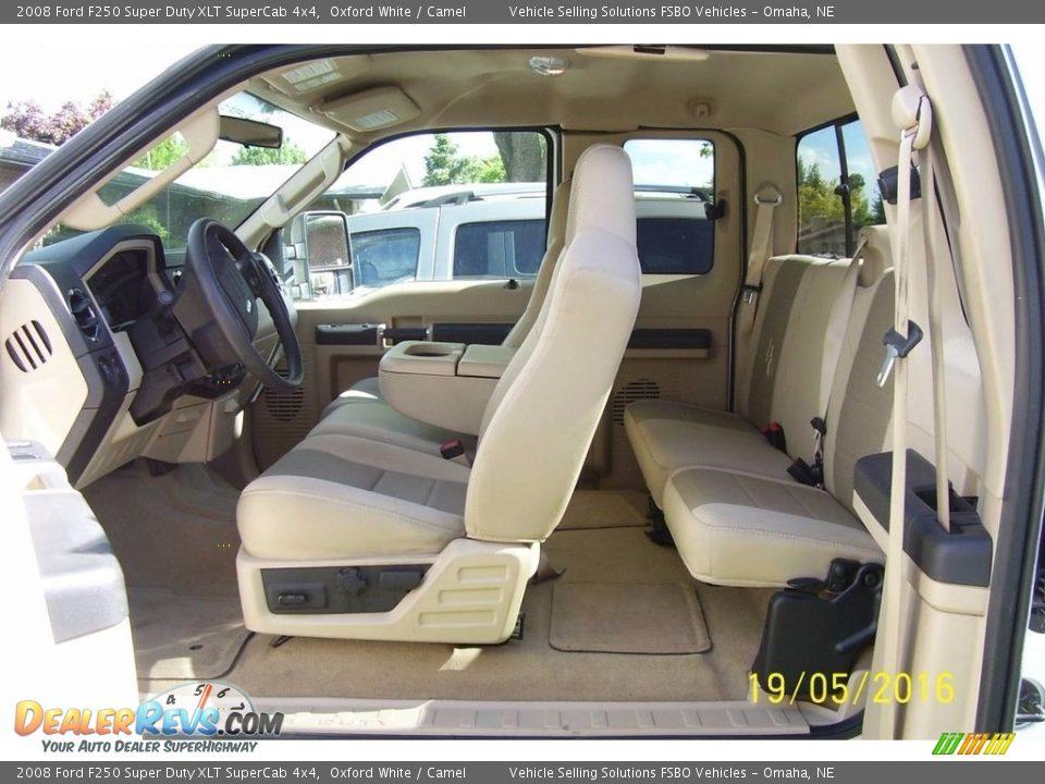 2008 Ford F250 Super Duty XLT SuperCab 4x4 Oxford White / Camel Photo #4