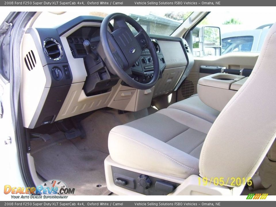 2008 Ford F250 Super Duty XLT SuperCab 4x4 Oxford White / Camel Photo #5