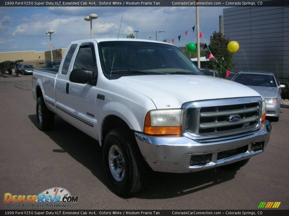 1999 Ford F250 Super Duty XLT Extended Cab 4x4 Oxford White / Medium ...