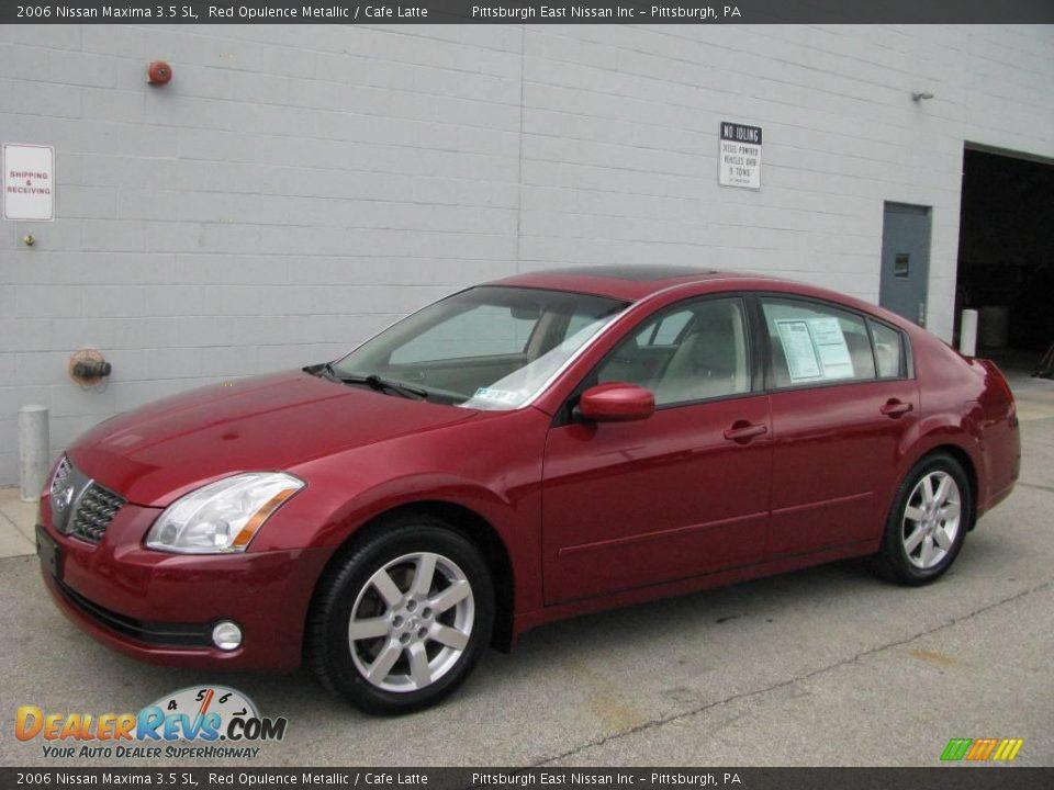 2006 Nissan Maxima 3 5 Sl Red Opulence Metallic Cafe