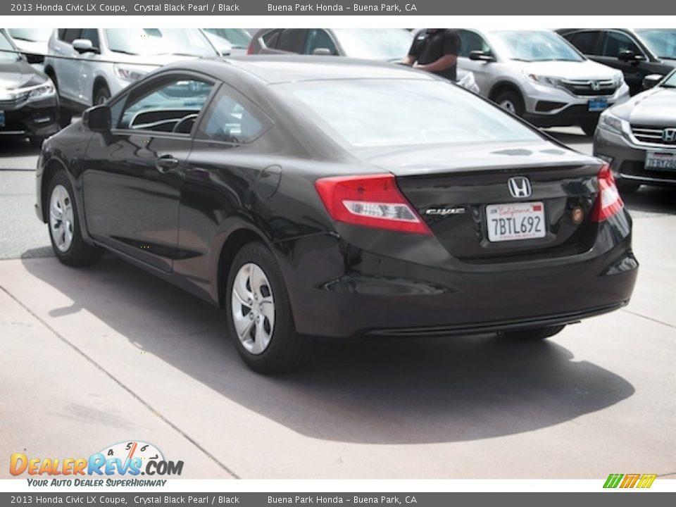 2013 Honda Civic LX Coupe Crystal Black Pearl / Black Photo #2