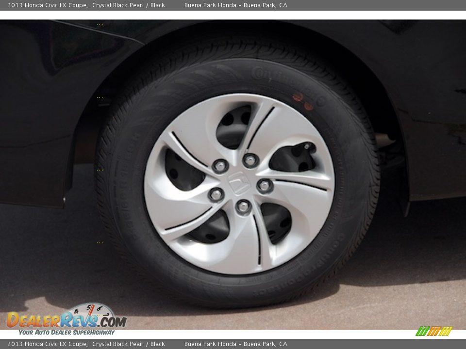 2013 Honda Civic LX Coupe Crystal Black Pearl / Black Photo #23