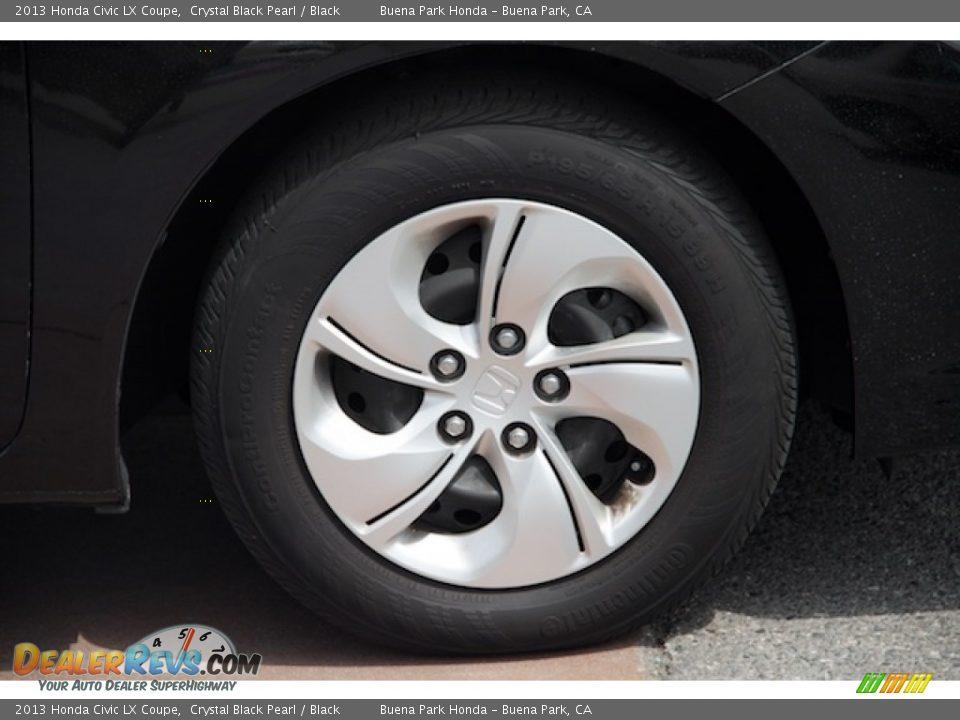 2013 Honda Civic LX Coupe Crystal Black Pearl / Black Photo #24