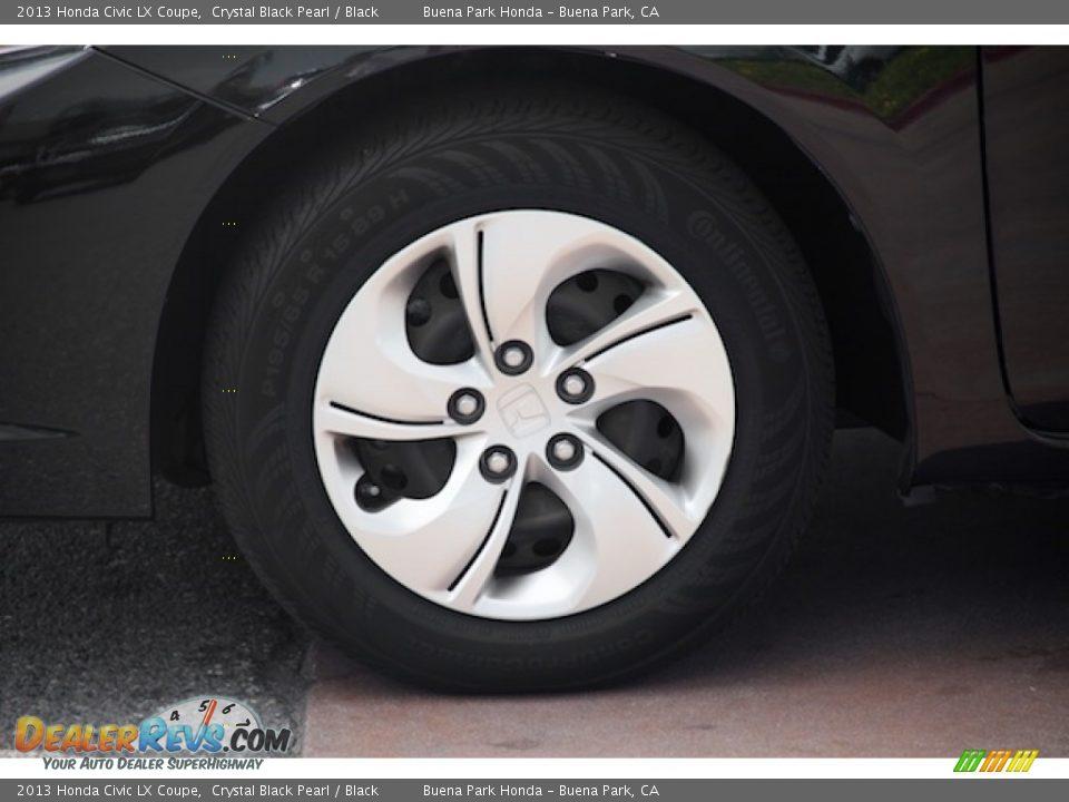 2013 Honda Civic LX Coupe Crystal Black Pearl / Black Photo #25