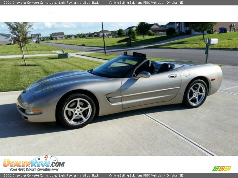 2001 Chevrolet Corvette Convertible Light Pewter Metallic / Black Photo #1