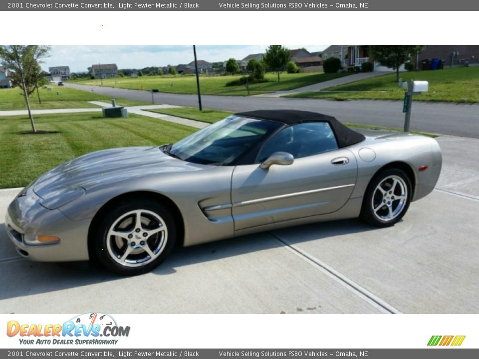 2001 Chevrolet Corvette Convertible Light Pewter Metallic / Black Photo #2