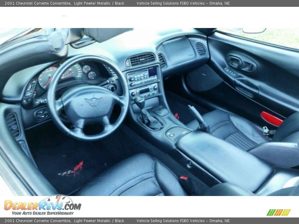 2001 Chevrolet Corvette Convertible Light Pewter Metallic / Black Photo #4