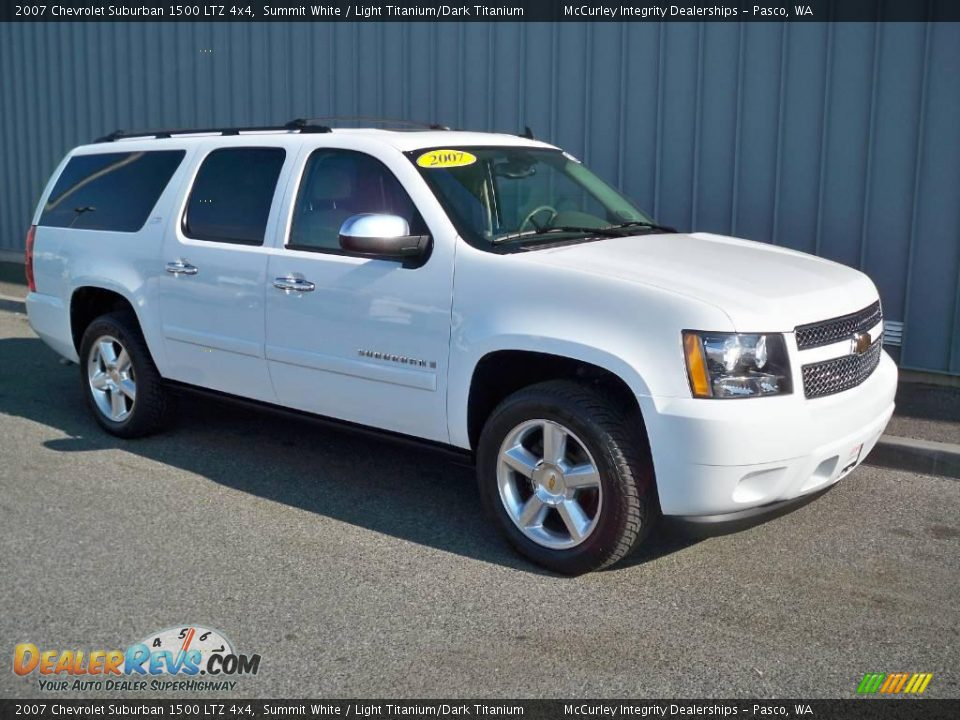 2007 chevrolet suburban 1500 ltz 4x4 summit white light. Black Bedroom Furniture Sets. Home Design Ideas
