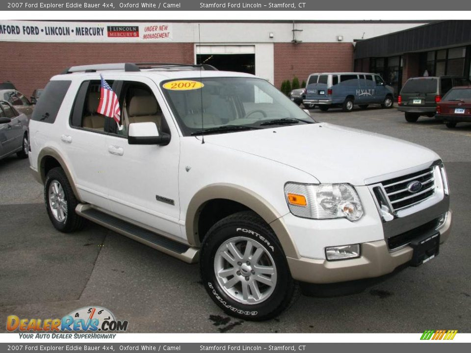 2007 ford explorer eddie bauer 4x4 oxford white camel photo 3. Black Bedroom Furniture Sets. Home Design Ideas