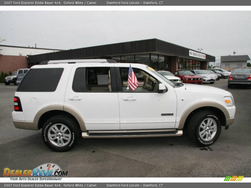 2007 ford explorer eddie bauer 4x4 oxford white camel photo 4. Black Bedroom Furniture Sets. Home Design Ideas